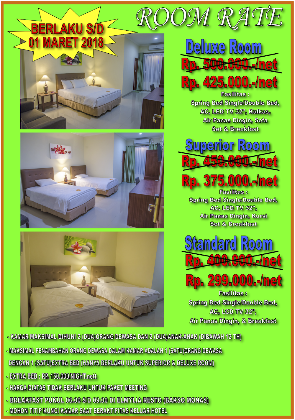 Discount Rate Room Hotel